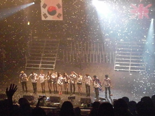 All the Cube artists on stage for the curtain call