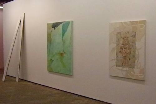 R to L: work by Kitty Jun-im McLaughlin, Joohee Chun and Bada Song