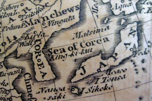 The Sea of Corea, from The Universal Gazetteer, 1760
