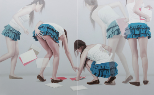 Horyon Lee: Overlapping Image S100810L | 162.2 x 260.6cm | Oil on canvas | 2010