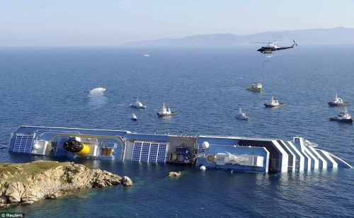 The Costa Concordia shipwreck