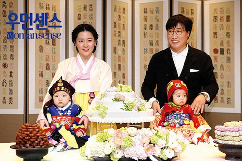 The first birthday celebration for Lee Young-ae's twins