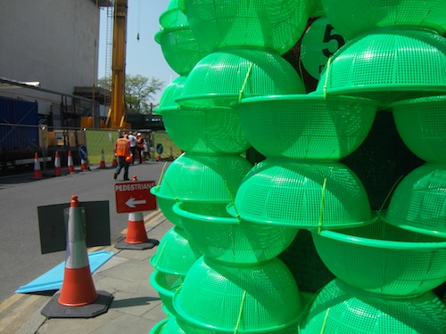 A close-up of the Choi Jeong-hwa project under the Hayward Gallery