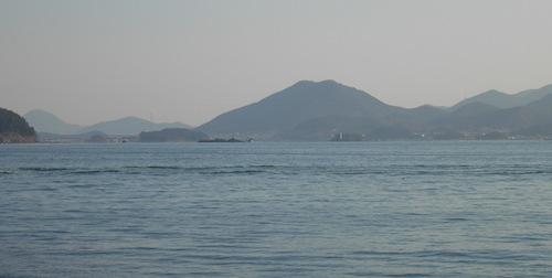 The calm blue sea of Tongyeong