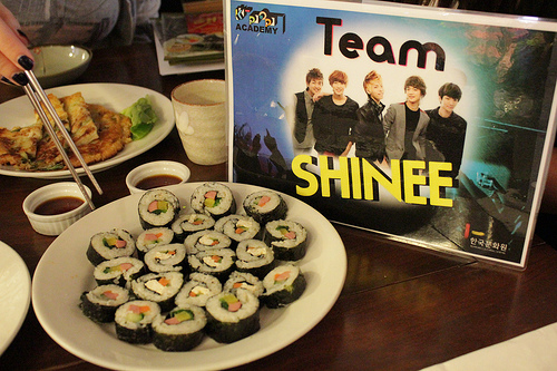 The team food-preparation competition: Team SHINee's Kimbap
