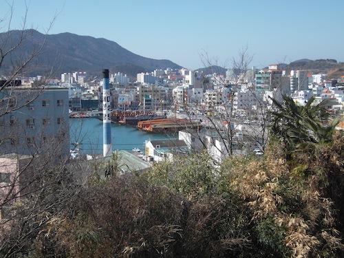 Tongyeong harbour from Dongpirang