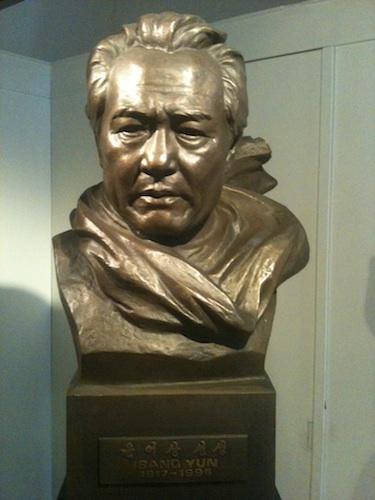 The bust of Yun Isang in the Yun Isang Memorial Hall in Tongyeong