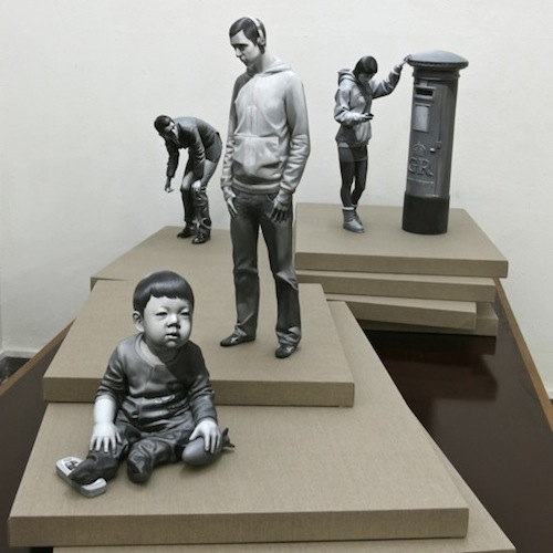 Installation view of some of Dae Hun Kwon's latest works