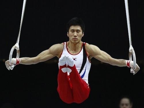 Yang Hak-seon, champion on the vault