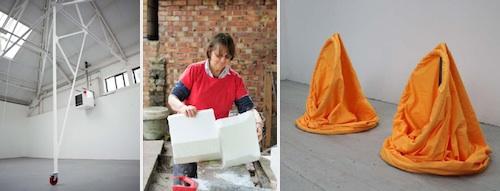 Minae Kim: Rooftoe; Phyllida Barlow; Jenny Dunseath: Cones