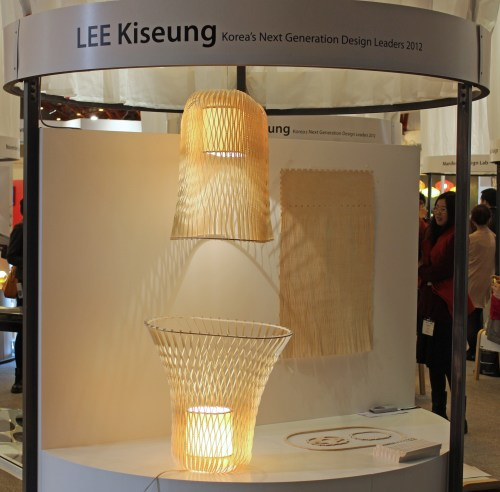 Lampshades made out of a single piece of plywood by Studio Inbetween / Kiseung LEE