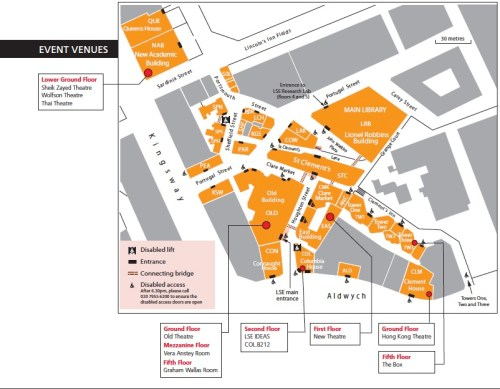 LSE venues - click on map for a larger version