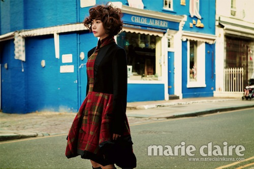 Bae Du-na in London for Marie Claire Korea