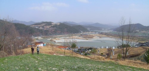 Saengcho and the Gyeongho valley from the Gaya tomb area