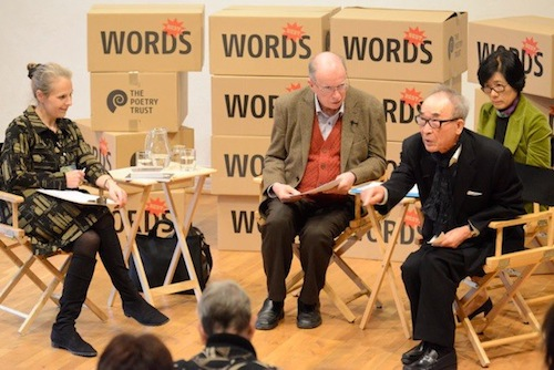 Ko Un with Brother Anthony at the Aldeburgh Poetry Festival