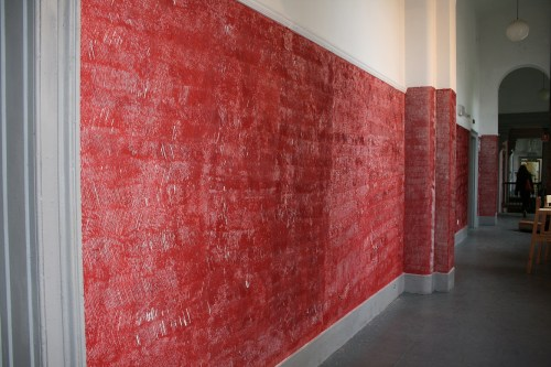 Jin Woo Yoo: Untitled (2010) Scratches on Painted Wall