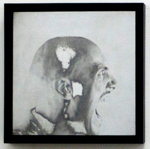 Woo Jin Kim: The way of having a conversation between you and me (2012) Etching on zinc plate, 32x32cm