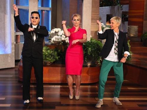Psy teaches Britney Spears and Ellen De Generis the Gangnam Style Dance