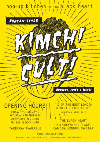 The Kimchi Cult residency poster