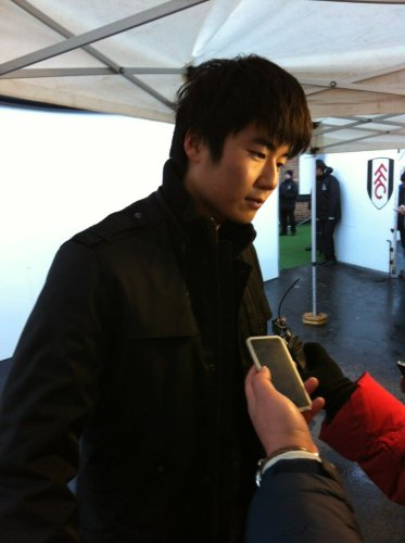 Ki Sung-yueng in the mixed zone after the game