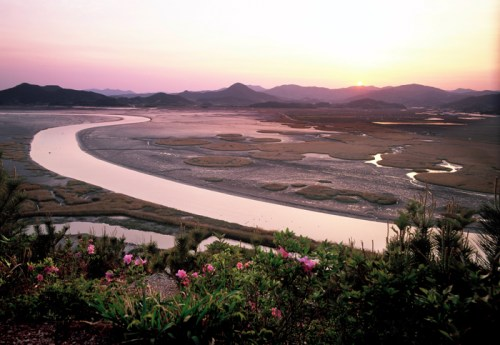 A classic view of the Suncheon Bay mudflats