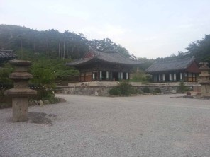 The two shrine buildings and the main courtyard, from outside my guest room