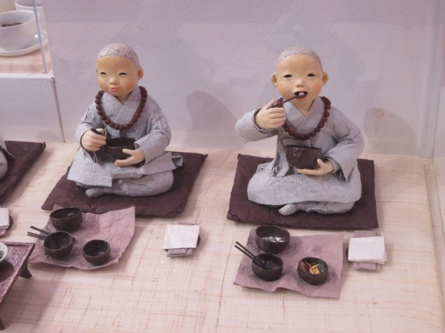 Monks eat healthily on their herbal and vegetarian diet