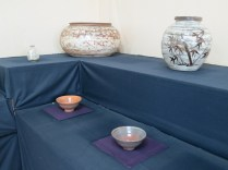 Min Young-ki's new. larger. works alongside some of his famous tea bowls