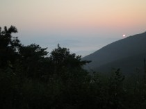 Sunrise from the recreational forest above Donguibogam Village