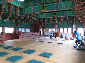 The meditation area upstairs in teh Donguijeon