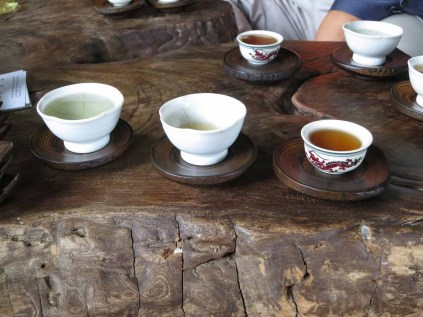 Tea is served by a former Buddhist dancer