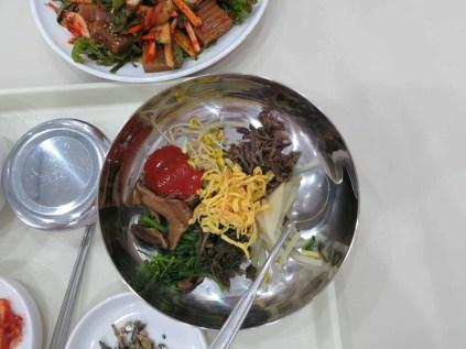 Vegetarian bibimbap for lunch