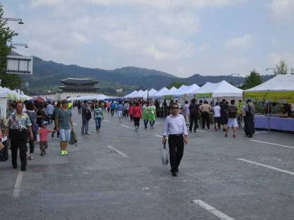 The Sunday flea market in Gwanghwamun