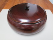The lacquer bowl, a generous gift from my hosts