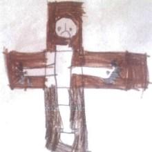 Crucifixion, by Elias Corbishley, aged 5