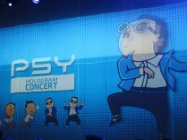 Waiting for PSY's hologram concert