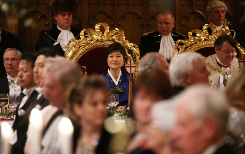 President Park at the Guildhall banquet