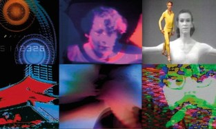 Still images of Nam June Paik's various videos