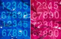 Woongjoo Seo, crumpled numbers, 112x291cm, oil on canvas, 2011