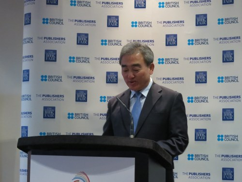 The Korean Minister of Culture invites UK to be guest country at Seoul Book Fair 2016