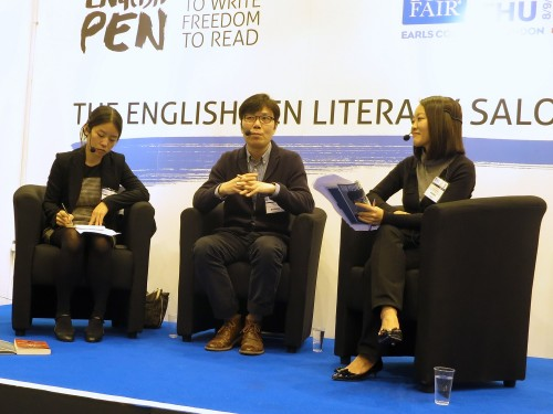 Featured image for post: LBF sketch: Kim Young-ha at the London Book Fair: always adapting to a new environment