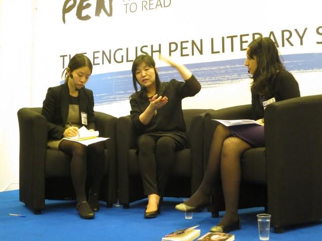 LBF - Shin Kyung-sook with Arifa Akbar on 8 April