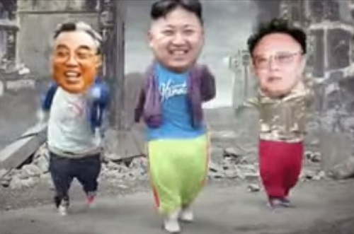 Chinese Kimg Jong Un dance video