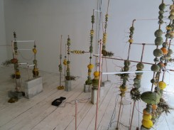 Jeehee Park: Fruit Battery (2014). Installed at Hanmi Gallery. 24 July 2014
