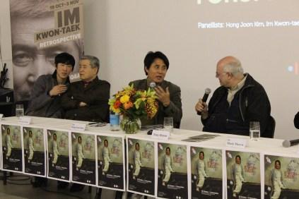 IM Kwon Taek with Kim Hong Joon and Tony Rayns