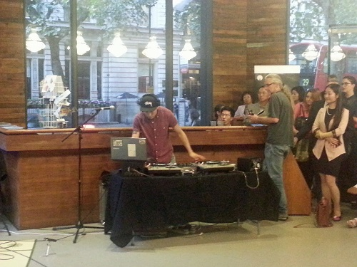 DJ Joonki in action on 12 August at the KCC