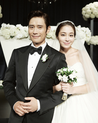 Lee Byung-hun and Lee Min-jung