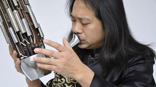 Wu Wei (sheng) photo © Elsa Thorpe