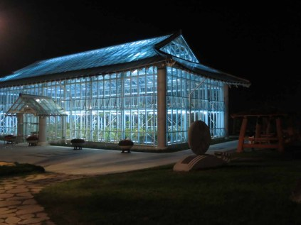 The Medicinal Herb Hall at night