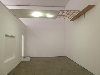 Jewyo Rhii: Triple Chandelier (2013). At Wilkinson Gallery, 13 September 2014.
